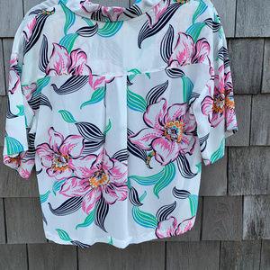 Levi's Tops - Levi's Mahina White Tropical Print Button-Up Top